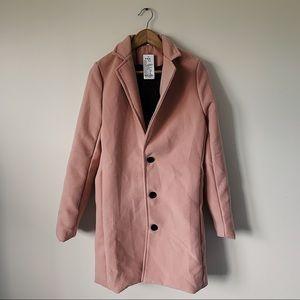 Jackets & Blazers - Light Pink Trench Coat